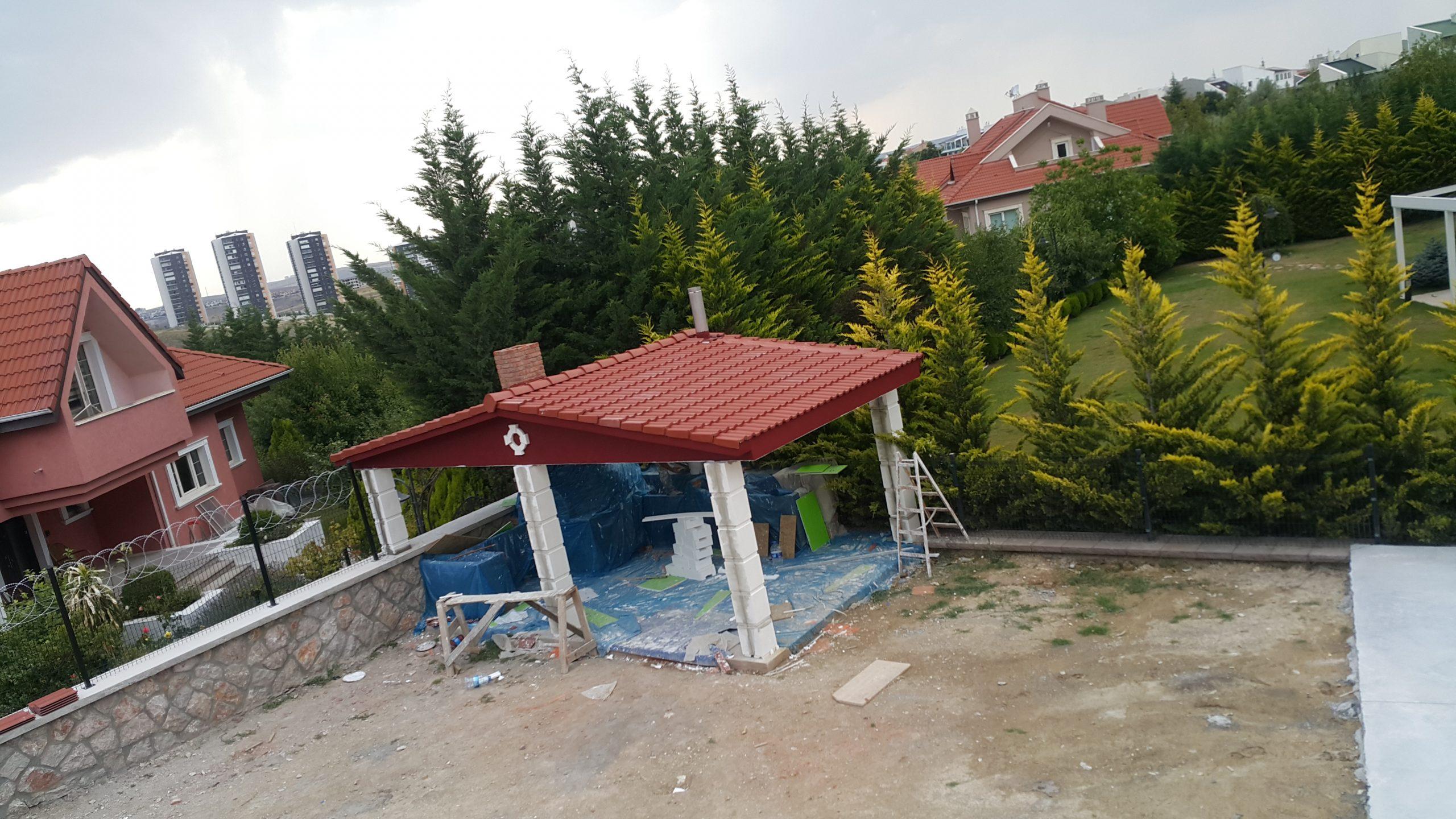 Yeşil Barış Sitesi Kış Bahçesi ve Barbekü Çatı İmalatları